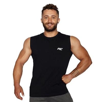 MuscleCloth Training Kolsuz T-Shirt Siyah