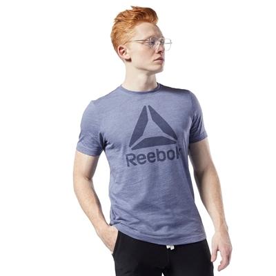Reebok Training Essentials Marble Melange T-Shirt Mavi