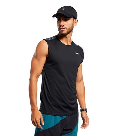 Reebok Workout Ready Tech Tee Kolsuz T-Shirt Siyah