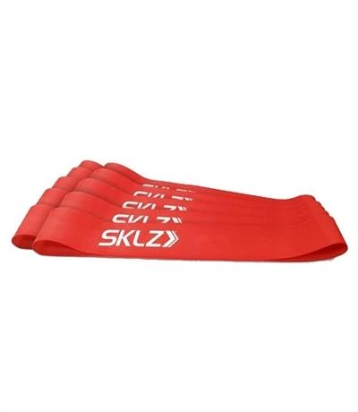 Sklz Mini Direnç Bandı 10\'Lu Paket Kırmızı-Orta