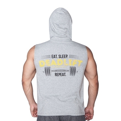 Supplementler Deadlift Kapüşonlu Kolsuz T-Shirt Gri