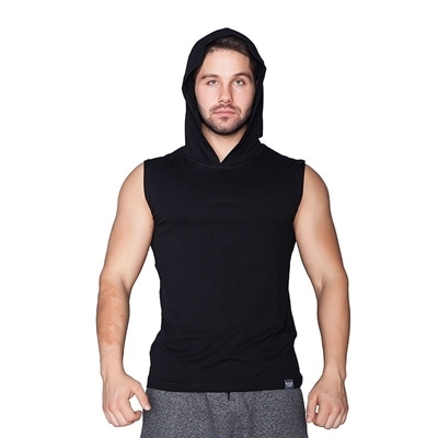 Supplementler Kapüşonlu Kolsuz T-Shirt Siyah
