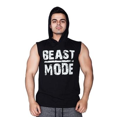 Supplementler Beast Mode Kapüşonlu Kolsuz T-Shirt Siyah