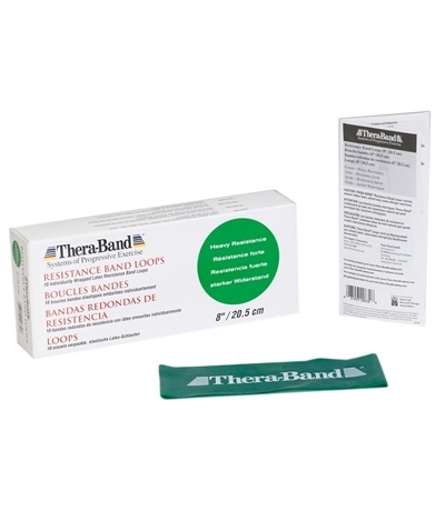 TheraBand Professional Resistance Direnç Lastiği 7.6 cm x 20.5 Yeşil