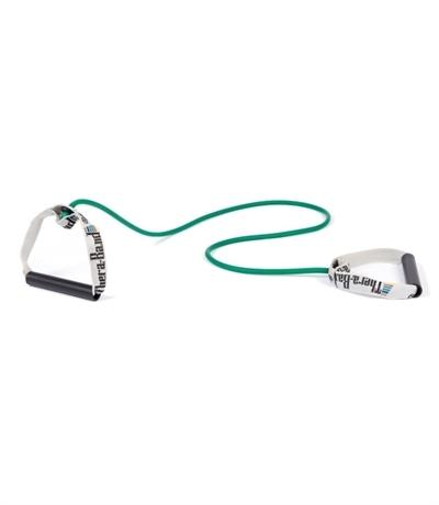 TheraBand Professional Resistance Tubing 1.4 mt With Hard Pvc Direnç Lastiği Yeşil