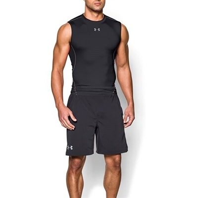 Under Armour HeatGear Kolsuz Compression T-shirt Siyah