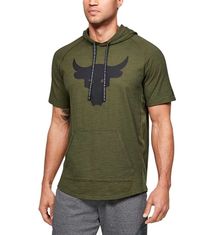 Under Armour Project Rock Charged Cotton Sweatshirt Yeşil