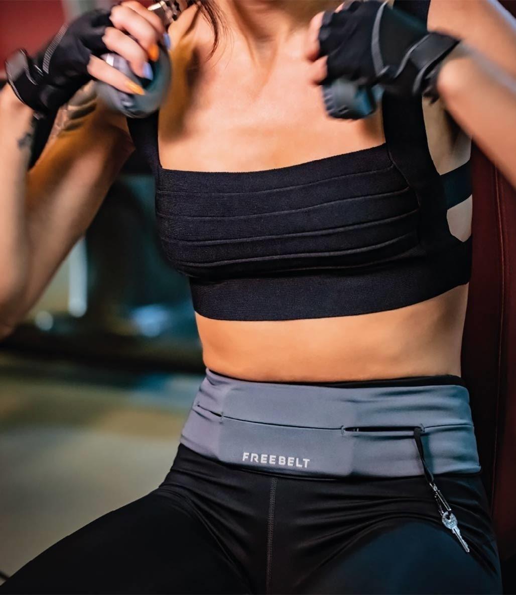 Freebelt Koşu ve Fitness Bel Kemeri Gri
