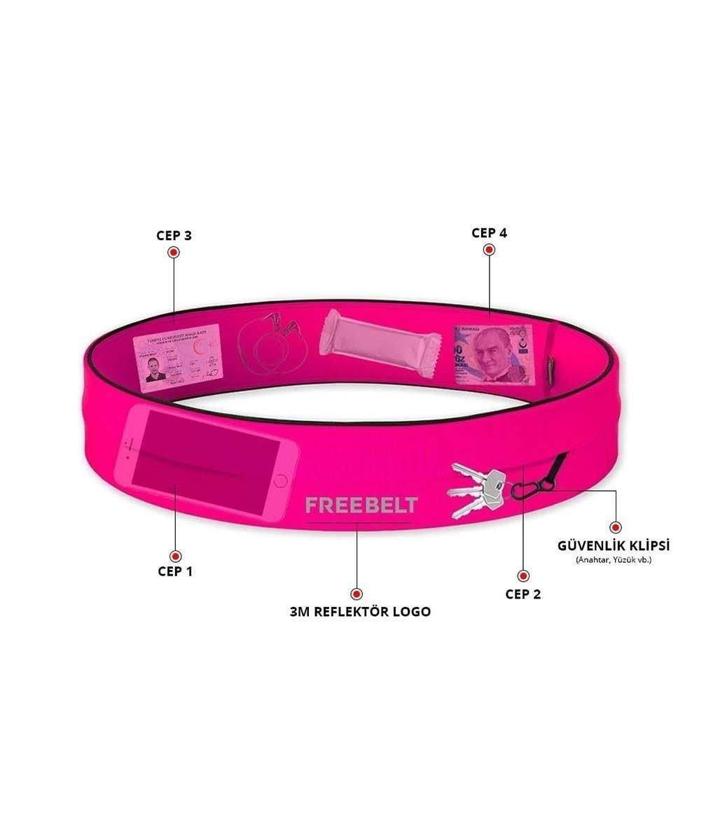 Freebelt Koşu ve Fitness Bel Kemeri Pembe