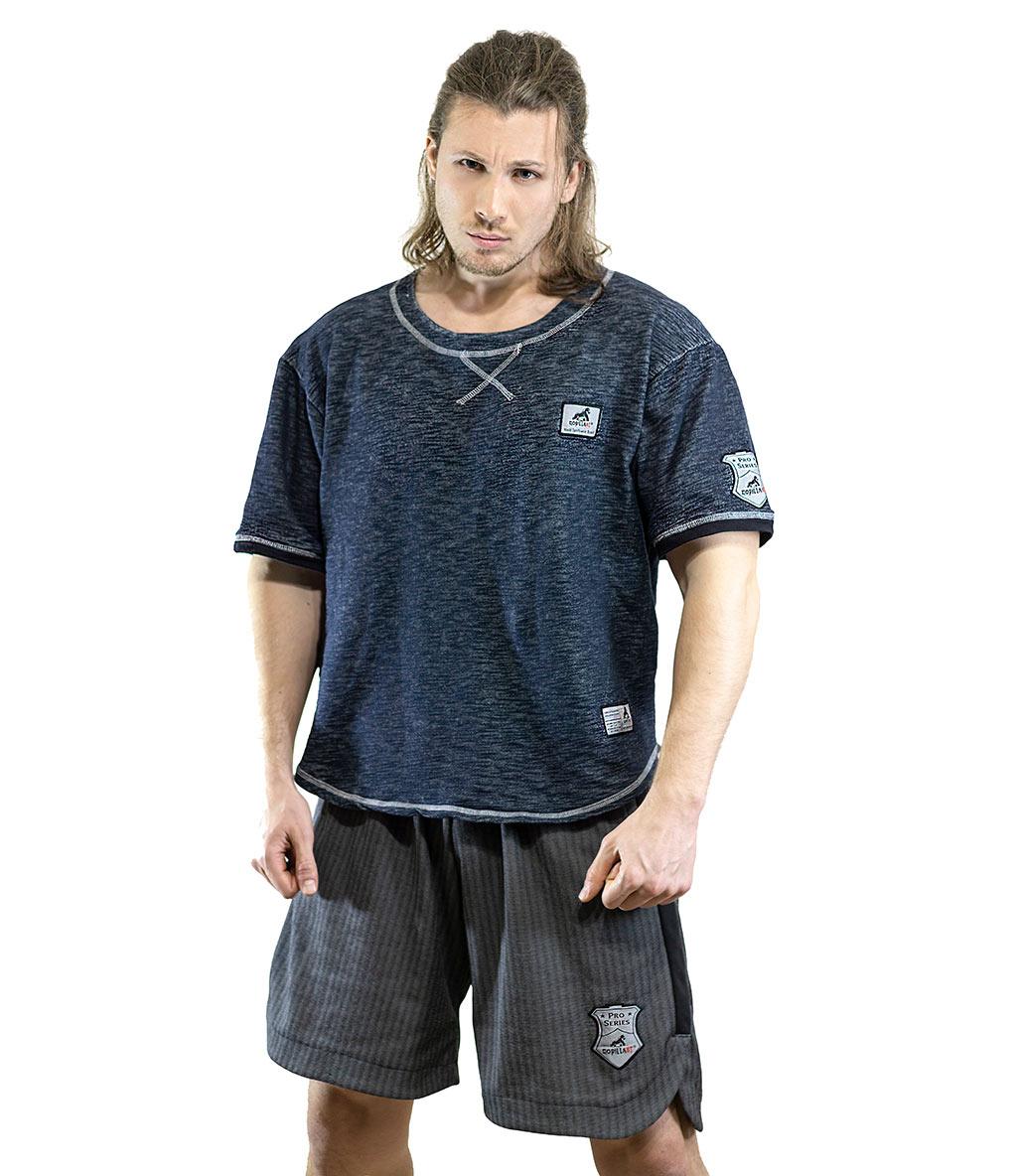 Gorillast Ant Kırçıllı T-Shirt Lacivert