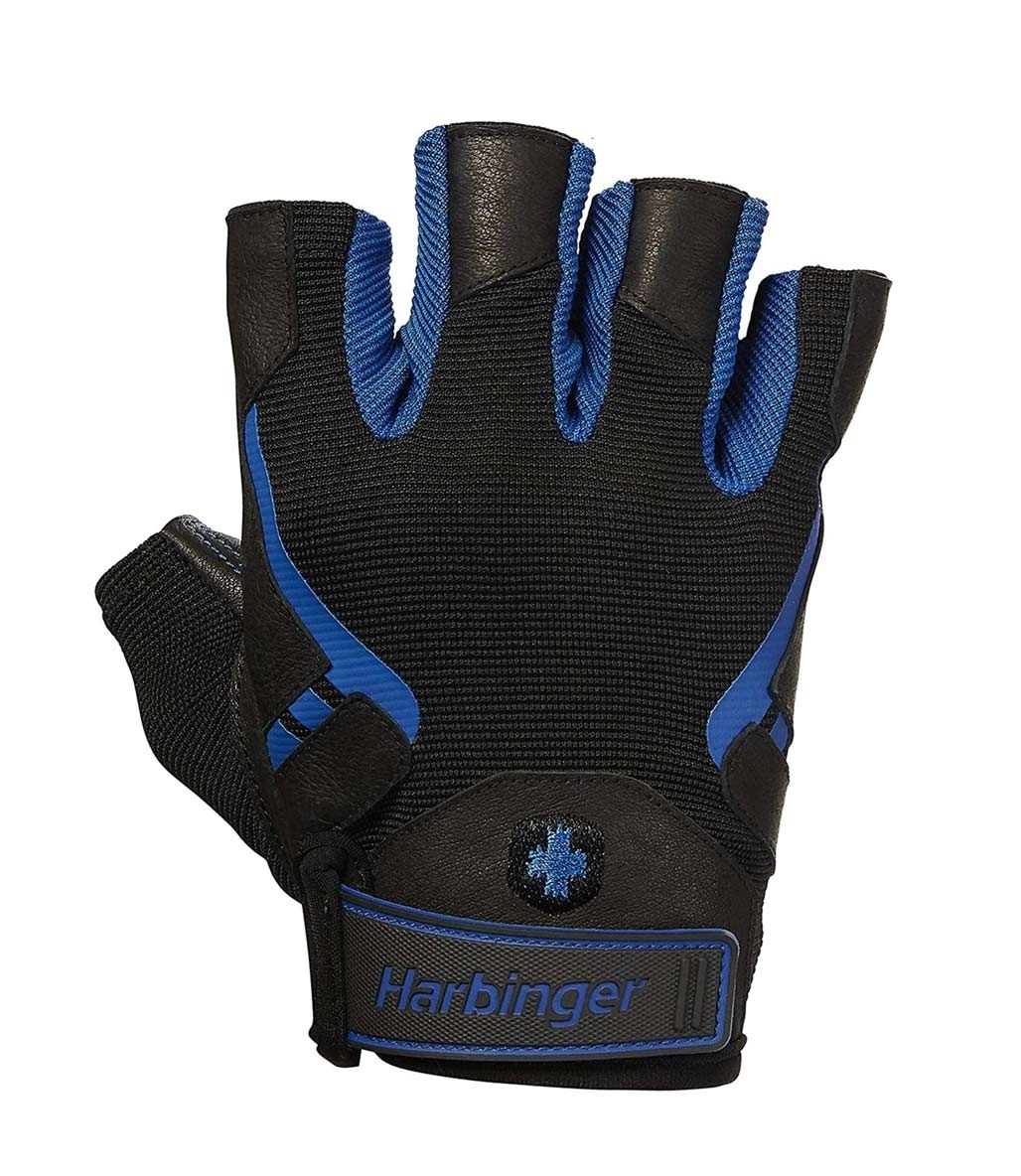 Harbinger Pro Gloves Fitness Eldiveni Siyah Mavi