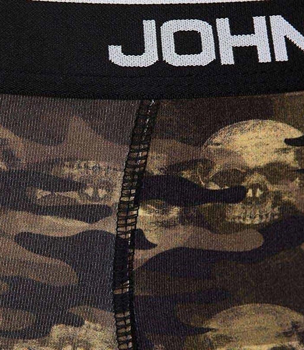 John Frank Dijital Baskılı Boxer Yeşil - Camo Skull - JFBD267