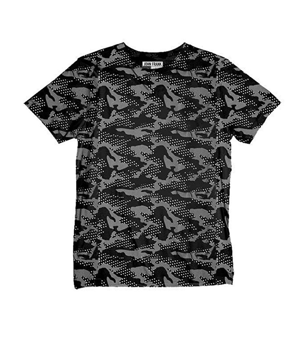 John Frank Monochrome T-Shirt Camo Star