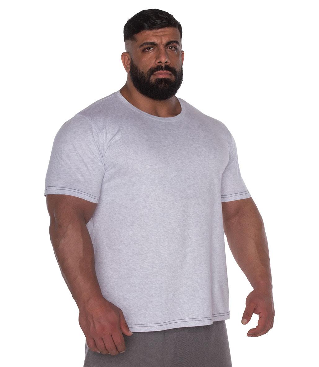 Kingsize Sbd Antrenman T-Shirt Açık Gri Melanj