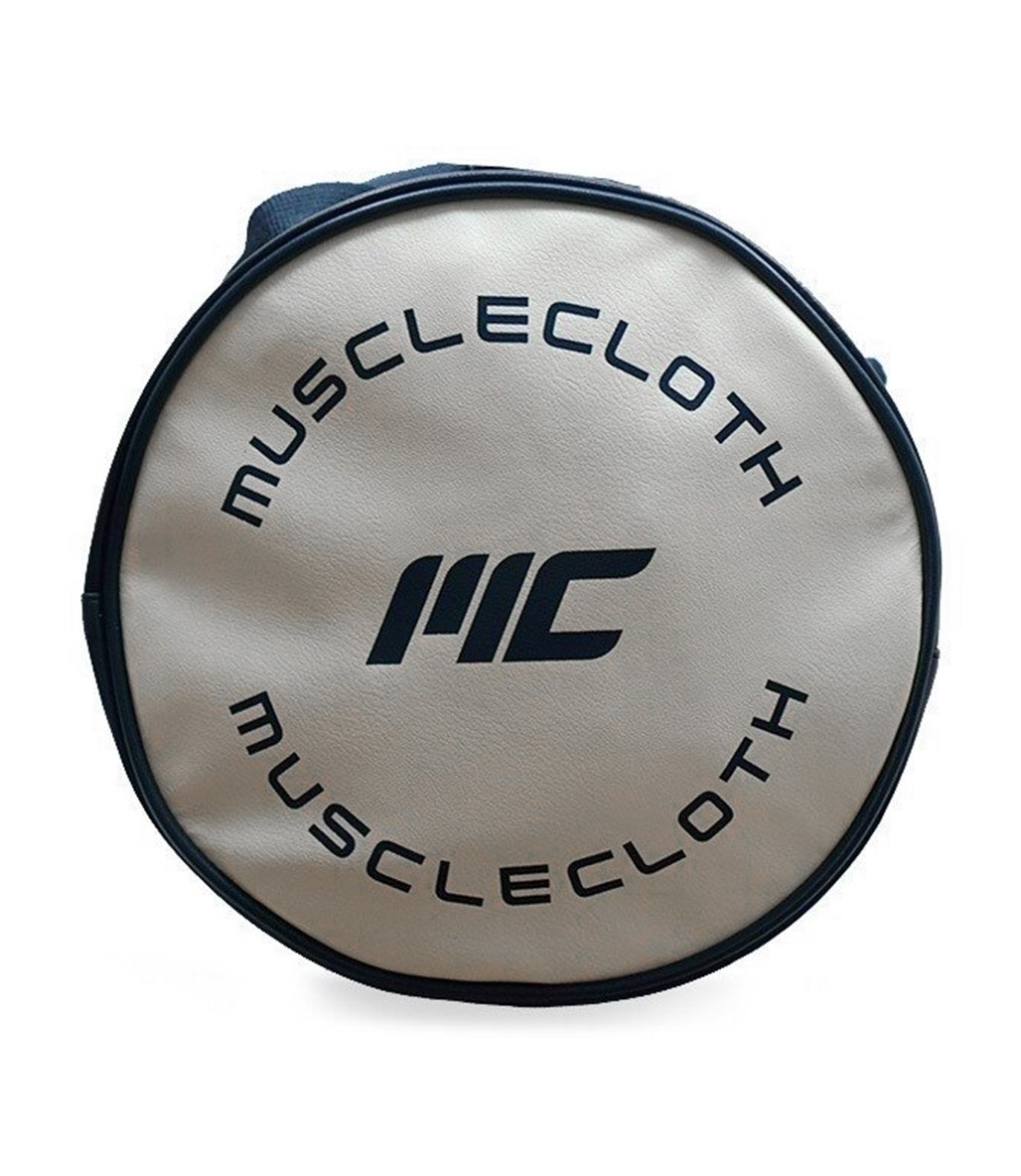 MuscleCloth Deri Silindir Çanta Lacivert