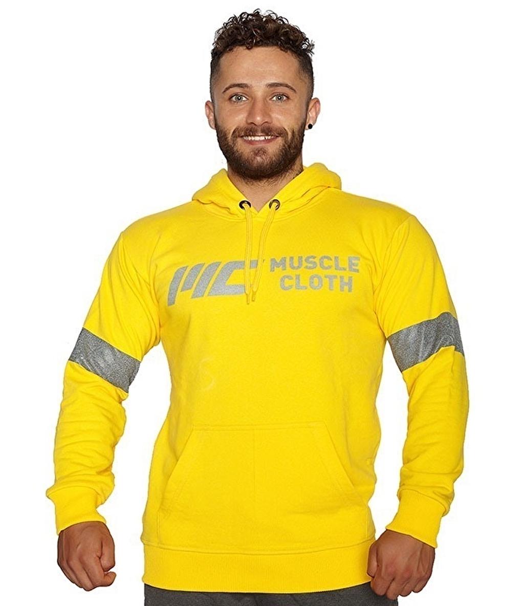 MuscleCloth Kapüşonlu Sweatshirt Sarı