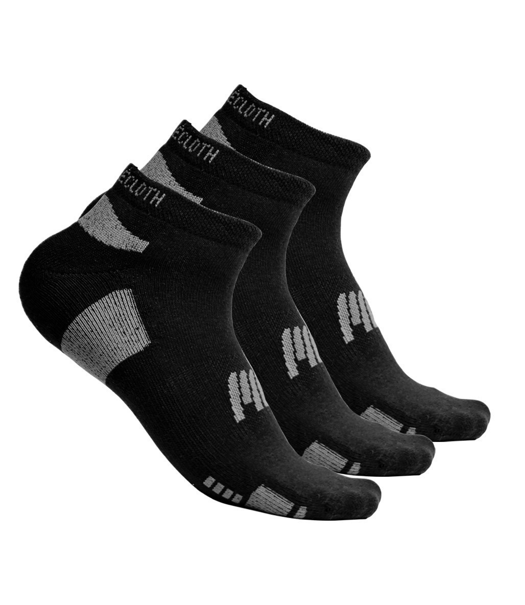 MuscleCloth Stay Fresh Çorap 3'Lü Paket Siyah