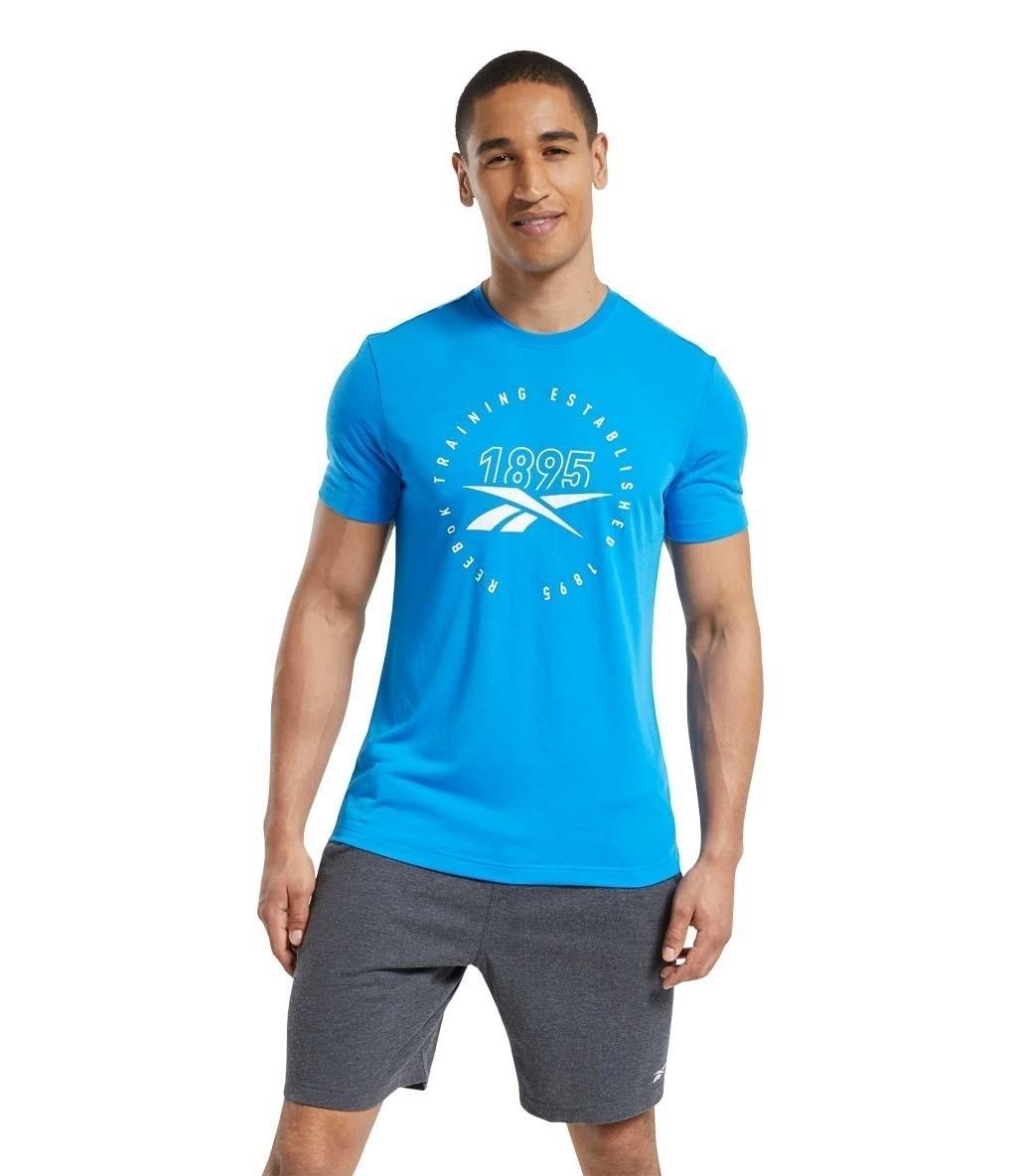 Reebok Graphic Series Speedwick T-Shirt Mavi