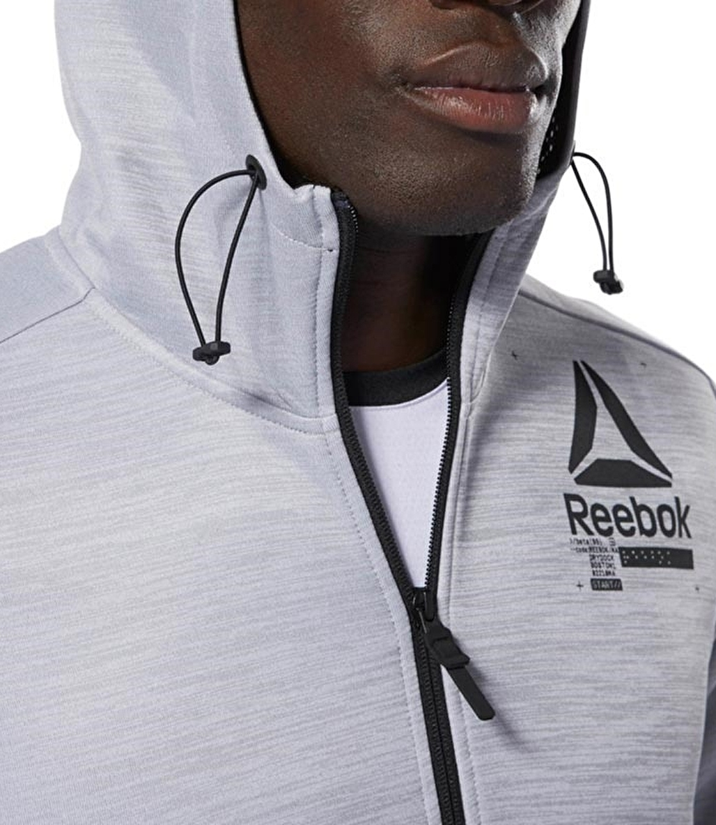 Reebok Training Spacer Full-zip Hoodie Gri