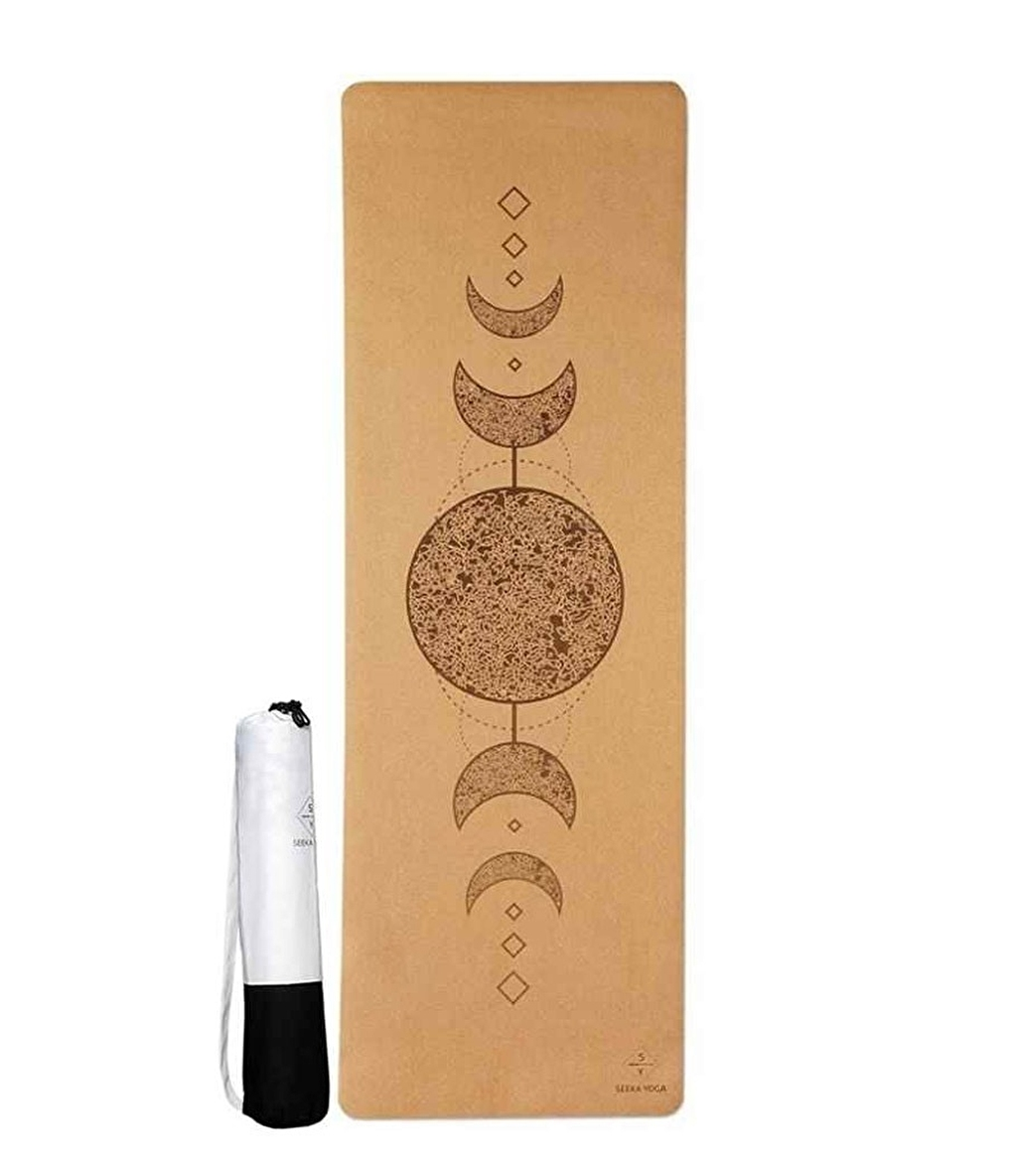 Seeka Yoga Mantar Yüzeyli Doğal Kauçuk Yoga Matı Moon