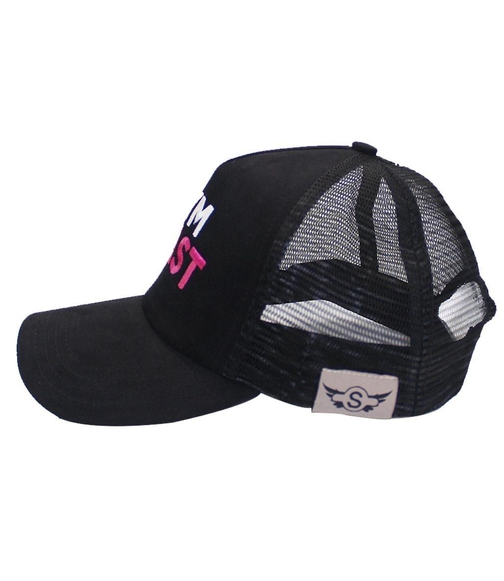 Supplementler Gym Beast Fileli Şapka Siyah Pembe Yazı