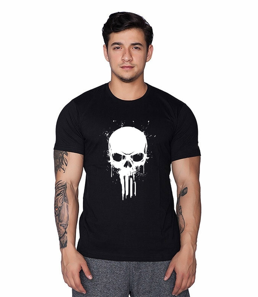 Supplementler Skull T-Shirt Siyah