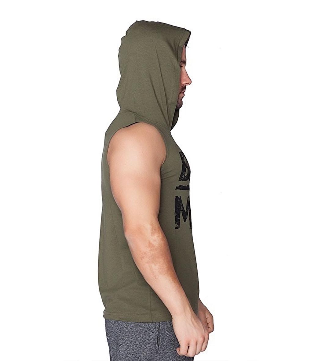Supplementler Beast Mode Kapüşonlu Kolsuz T-Shirt Yeşil