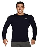 MuscleCloth Basic Uzun Kollu T-Shirt Lacivert