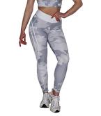 MuscleCloth Dora Kamuflaj Spor Tayt Beyaz