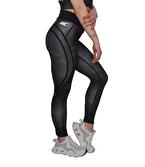 MuscleCloth Dora Kamuflaj Spor Tayt Siyah