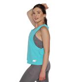 MuscleCloth Elise Çapraz Sırtlı Atlet Turkuaz