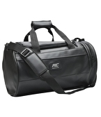MuscleCloth Elite Duffel Bag Silindir Spor Çanta Siyah