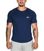 MuscleCloth Elite Reglan T-Shirt İndigo Mavi