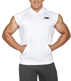 MuscleCloth Kapüşonlu Kolsuz Yelek Beyaz