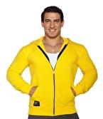 MuscleCloth Kapüşonlu Fermuarlı Sweatshirt Sarı