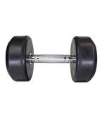 MuscleCloth Kauçuk Kaplı Profesyonel Dambıl 12,5 Kilo