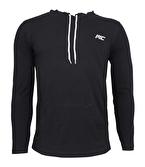 MuscleCloth Training Kapüşonlu Uzun Kollu T-Shirt Siyah