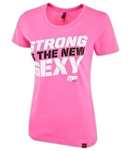 MusclePharm Kadın T Shirt 'Strong is The New Sexy' Pembe