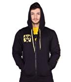 Mutant Leave Humanity Fermuarlı Sweatshirt Siyah