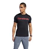 Reebok Graphic Series Linear Logo Tee T-Shirt Siyah