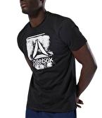 Reebok Stamped Logo Crew T-Shirt Siyah