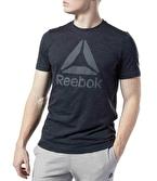 Reebok Training Essentials Marble Melange T-Shirt Siyah