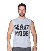Supplementler Beast Mode Kolsuz T-Shirt Gri