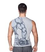Supplementler Dumbell Arm Kolsuz T-Shirt Gri