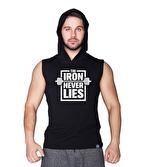 Supplementler Iron Never Lies Kapüşonlu Kolsuz T-Shirt Siyah