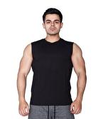 Supplementler Kolsuz T-Shirt Siyah