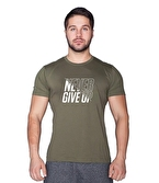 Supplementler Never Give Up T-Shirt Yeşil