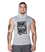 Supplementler One More Rep Kapüşonlu Kolsuz T-Shirt Gri