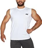 MuscleCloth Training Kolsuz T-Shirt Beyaz