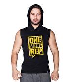 Supplementler One More Rep Kapüşonlu Kolsuz T-Shirt Siyah